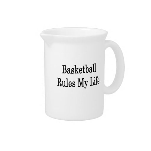 Basketball Rules My Life Beverage Pitchers