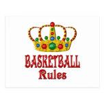 BASKETBALL RULES POSTCARDS