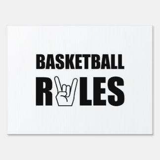 Basketball Rules Yard Signs