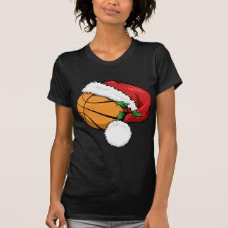 Basketball Santa Cap T-Shirt