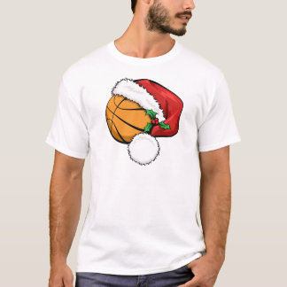Basketball Santa Cap T-Shirt