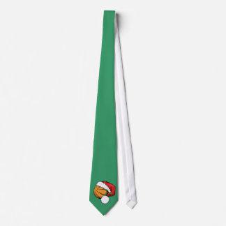 Basketball Santa Cap Tie
