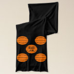 "Basketball Scarf<br><div class=""desc"">Basketball scarf can be customized with a name for player,  team,  school or coach.</div>"