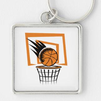 basketball score graphic keychain