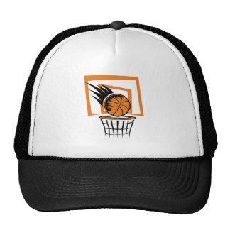 basketball score graphic trucker hat