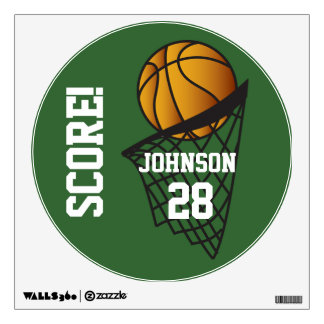 Basketball Score Wall Decal (Changeable Color)