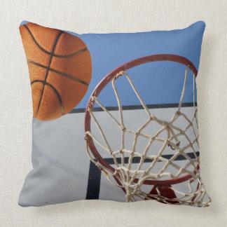 Basketball,_Scoring_Points,_Big_Lounge_Cushion. Throw Pillow