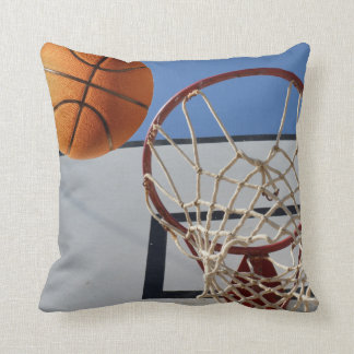 Basketball,_Scoring_Points,_Lounge_Cushion. Throw Pillow