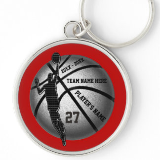 Basketball Senior Gifts Personalized, Team Colors Keychain