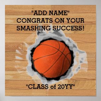 Basketball Seniors Graduation Poster