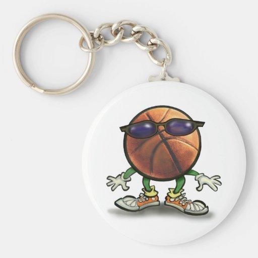 Basketball Shades Basic Round Button Keychain