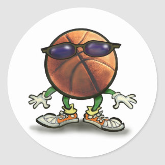 Basketball Shades Classic Round Sticker