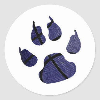 Basketball Shaped In Claw Royal Blue Sticker