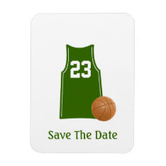 Basketball Shirt Save The Date Flexible Magnet at Zazzle