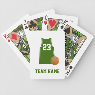 Basketball Shirt With Basketball Playing Cards at Zazzle