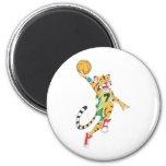 Basketball Shirts - Tiger Slam Dunk Basketball Fridge Magnet