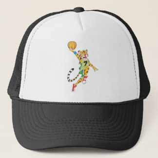 Basketball Shirts - Tiger Slam Dunk Basketball Trucker Hat
