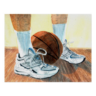Basketball Shoes Canvas Print