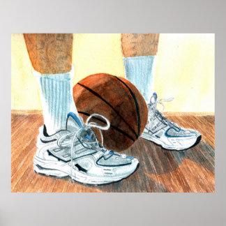 Basketball Shoes Canvas Print