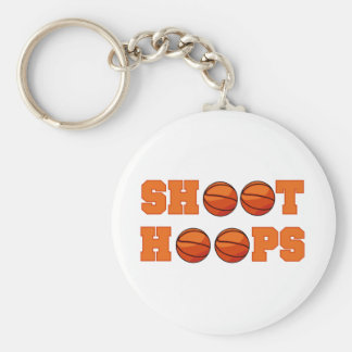 Basketball Shoot Hoops T-shirts and Gifts Basic Round Button Keychain