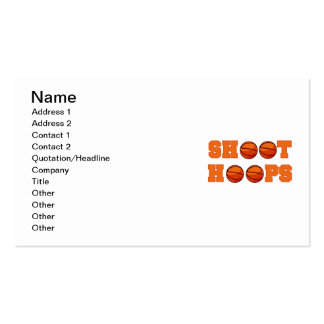 Basketball Shoot Hoops T-shirts and Gifts Business Card Templates