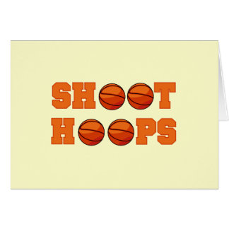 Basketball Shoot Hoops T-shirts and Gifts Card