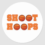 Basketball Shoot Hoops T-shirts and Gifts Round Stickers