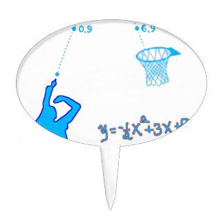 Basketball Shot and Quadratic equation Cake Topper
