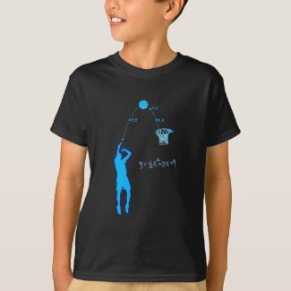 Basketball Shot and Quadratic equation T-Shirt