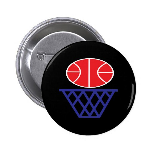 Basketball Sign 2 Inch Round Button