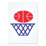 "Basketball Sign 5"" X 7"" Invitation Card"