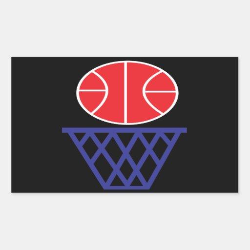 Basketball Sign Rectangular Sticker
