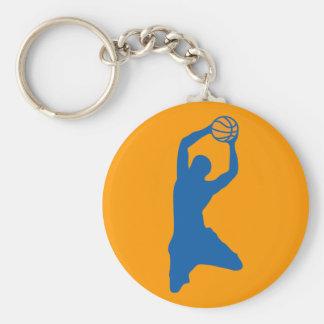 basketball silhouette keychain