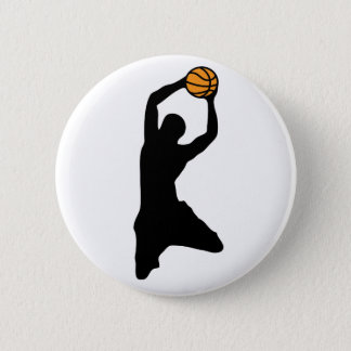 basketball silhouette pinback button