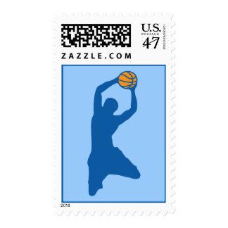basketball : silhouettes : postage