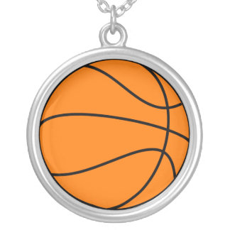 Basketball Silver Plated Necklace