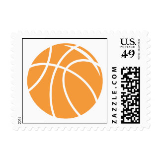 basketball simple vector graphic postage