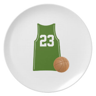 Basketball Singlet Shirt With Basketball Plate at Zazzle