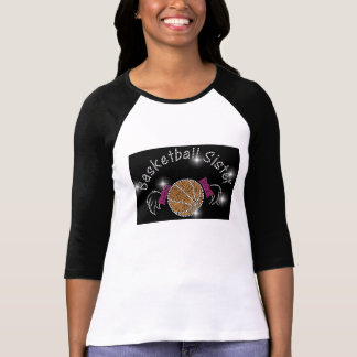 Basketball Sister with Bling  Fashion Shirt