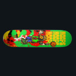 """Basketball Skateboard Deck<br><div class=""""desc"""">Basketball T shirts and Gifts features a basketball player spinning a basketball on the tip of his extended finger.</div>"""