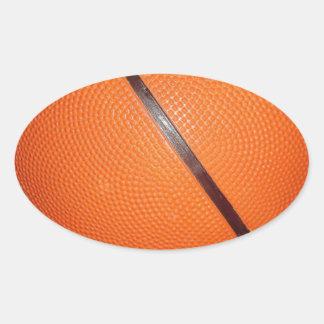 Basketball Skin Oval Sticker