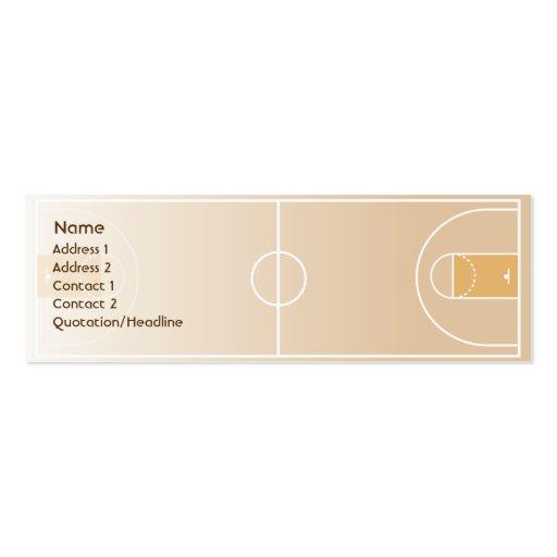 Basketball - Skinny Business Card Templates