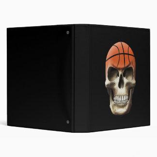 Basketball Skull 3 Ring Binder