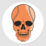 Basketball Skull Classic Round Sticker