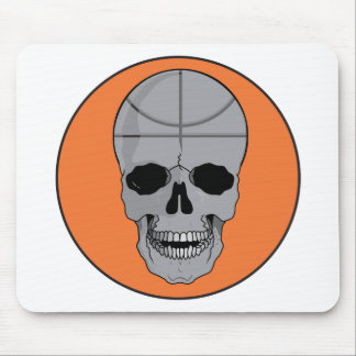 basketball skull design mouse pad