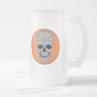 basketball skull design mug