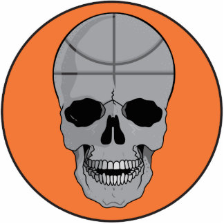 basketball skull design statuette