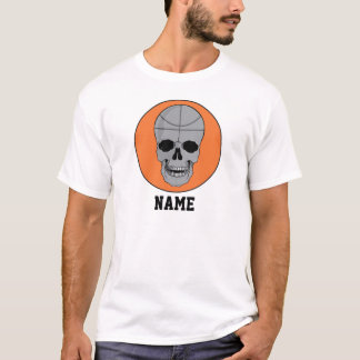 basketball skull head graphic T-Shirt