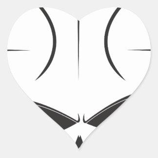 Basketball Skull Heart Sticker