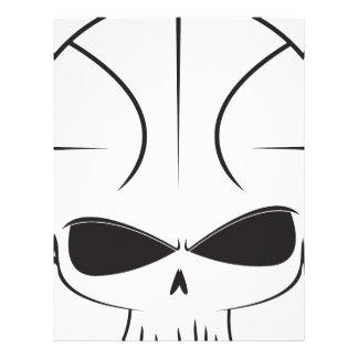 Basketball Skull Customized Letterhead